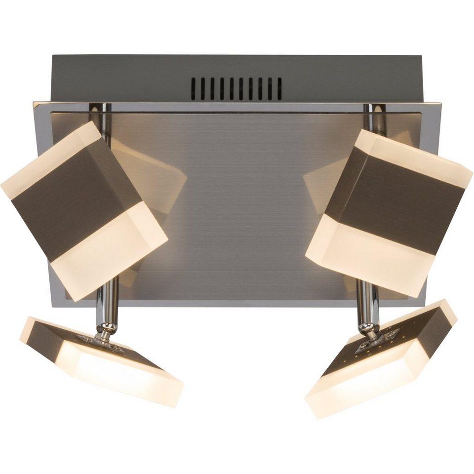 Brilliant Leuchten Target LED Deckenleuchte, 4-flammig nickel/chrom in nickel/chrom