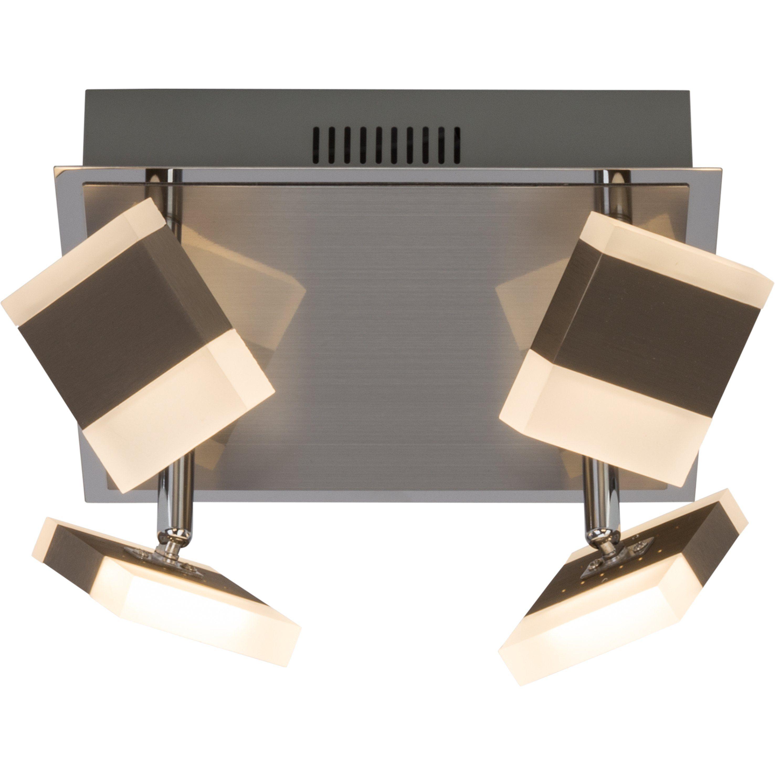 Brilliant Leuchten Target LED Deckenleuchte, 4-flammig nickel/chrom