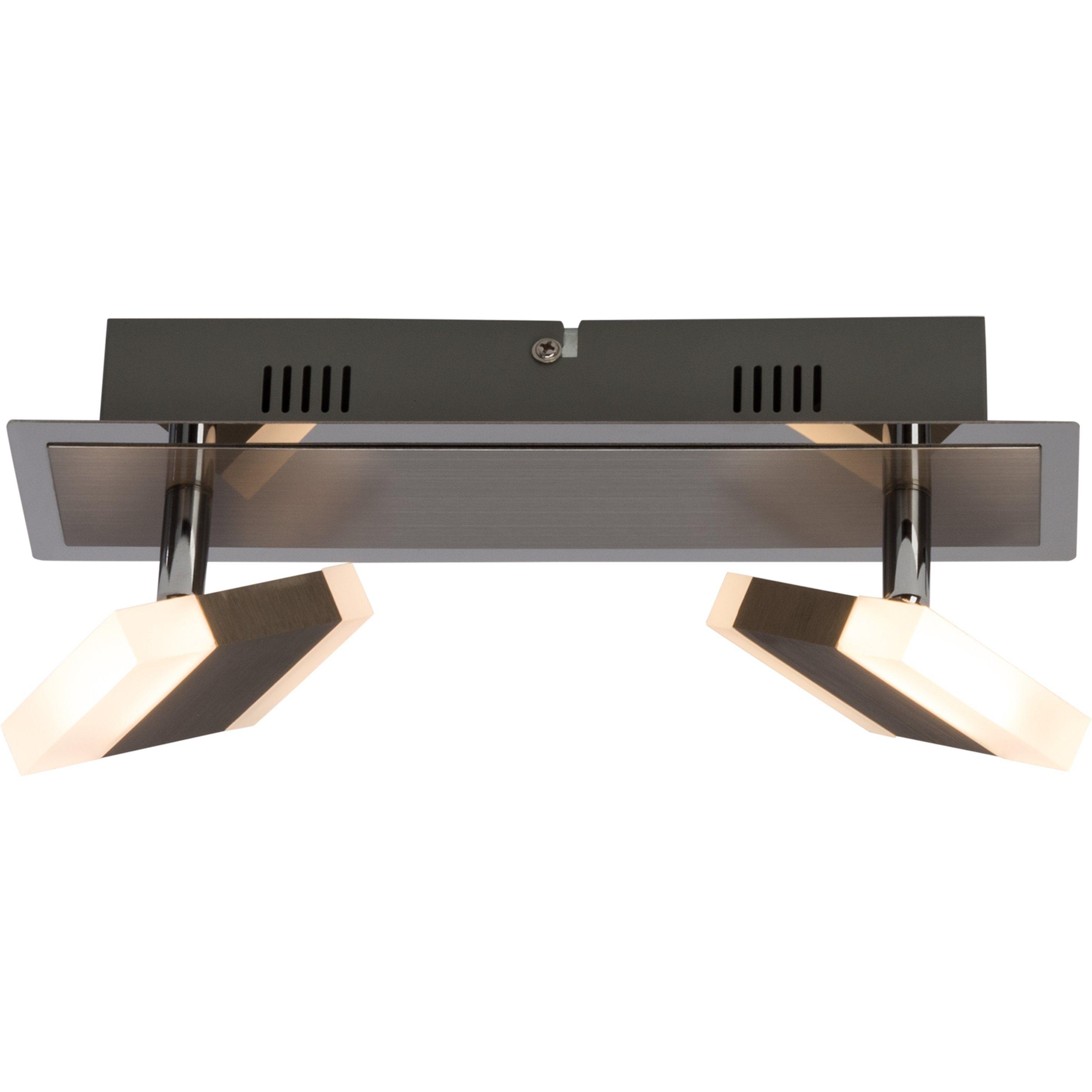 Brilliant Leuchten Target LED Spotbalken, 2-flammig nickel/chrom