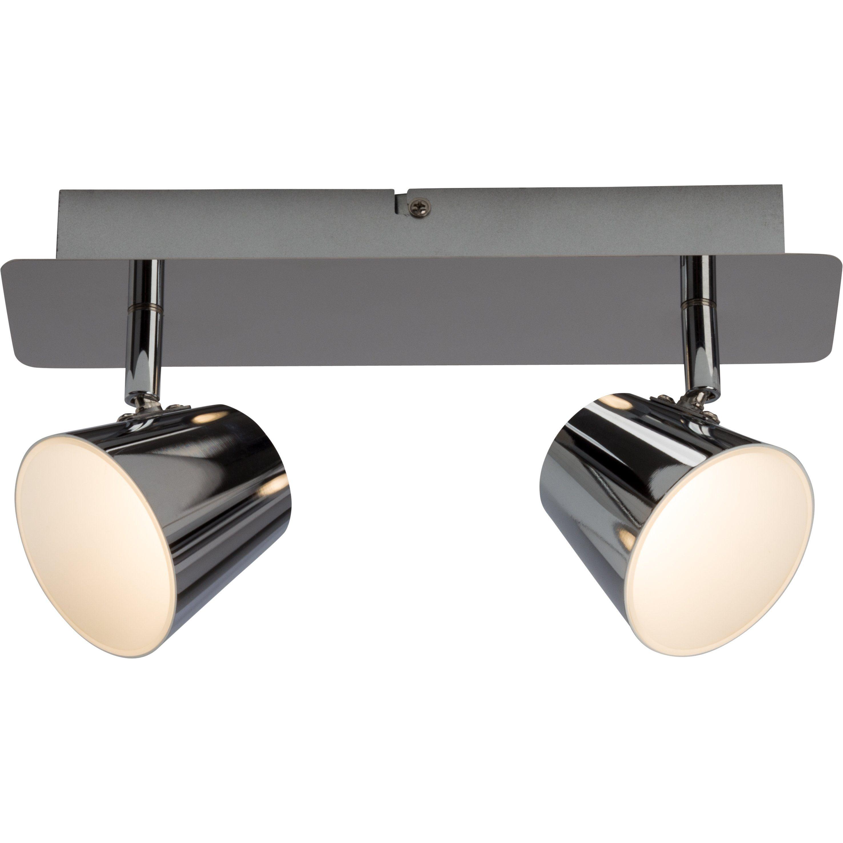 Brilliant Leuchten Torsion LED Spotbalken, 2-flammig chrom