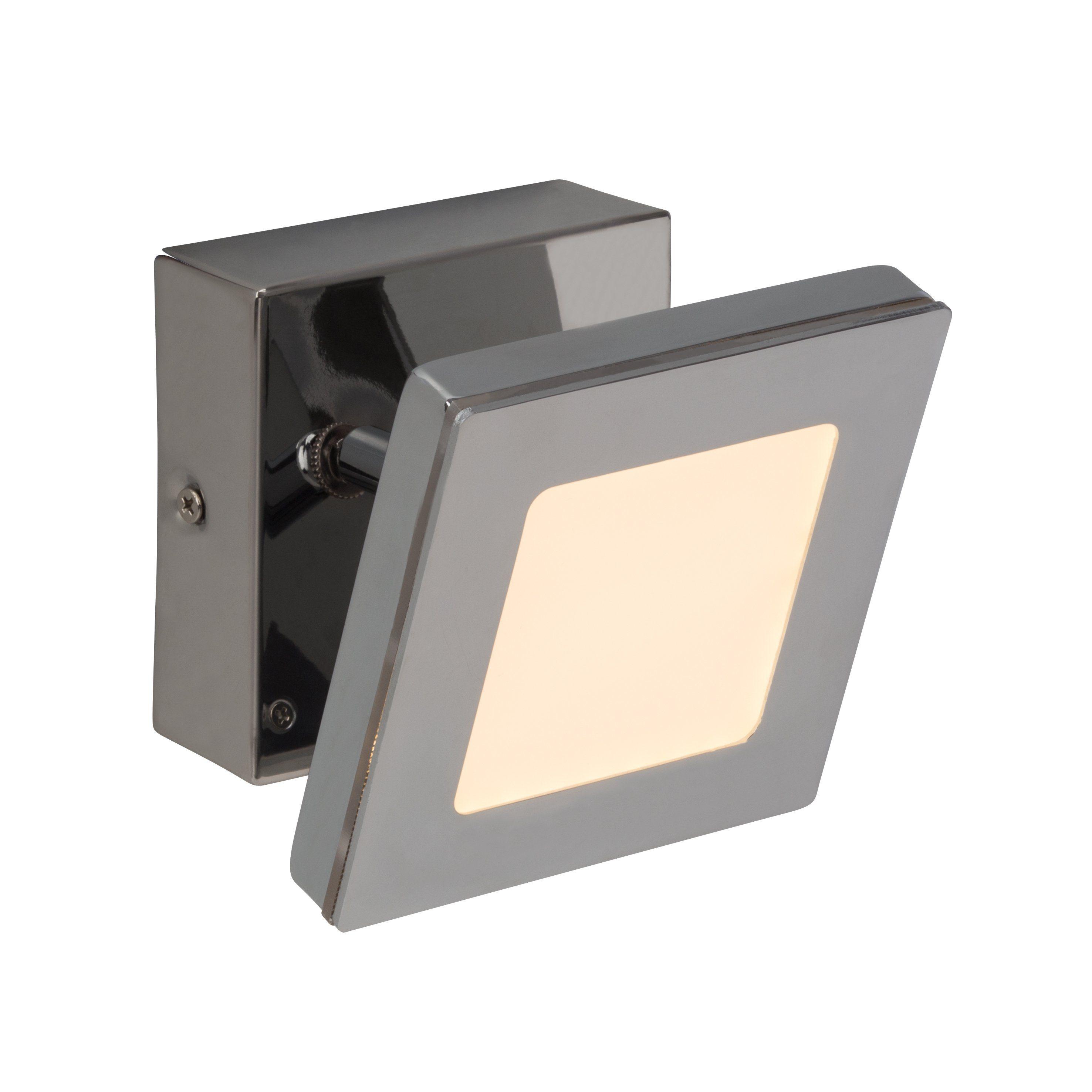 Brilliant Leuchten Sense Square LED Wandspot chrom