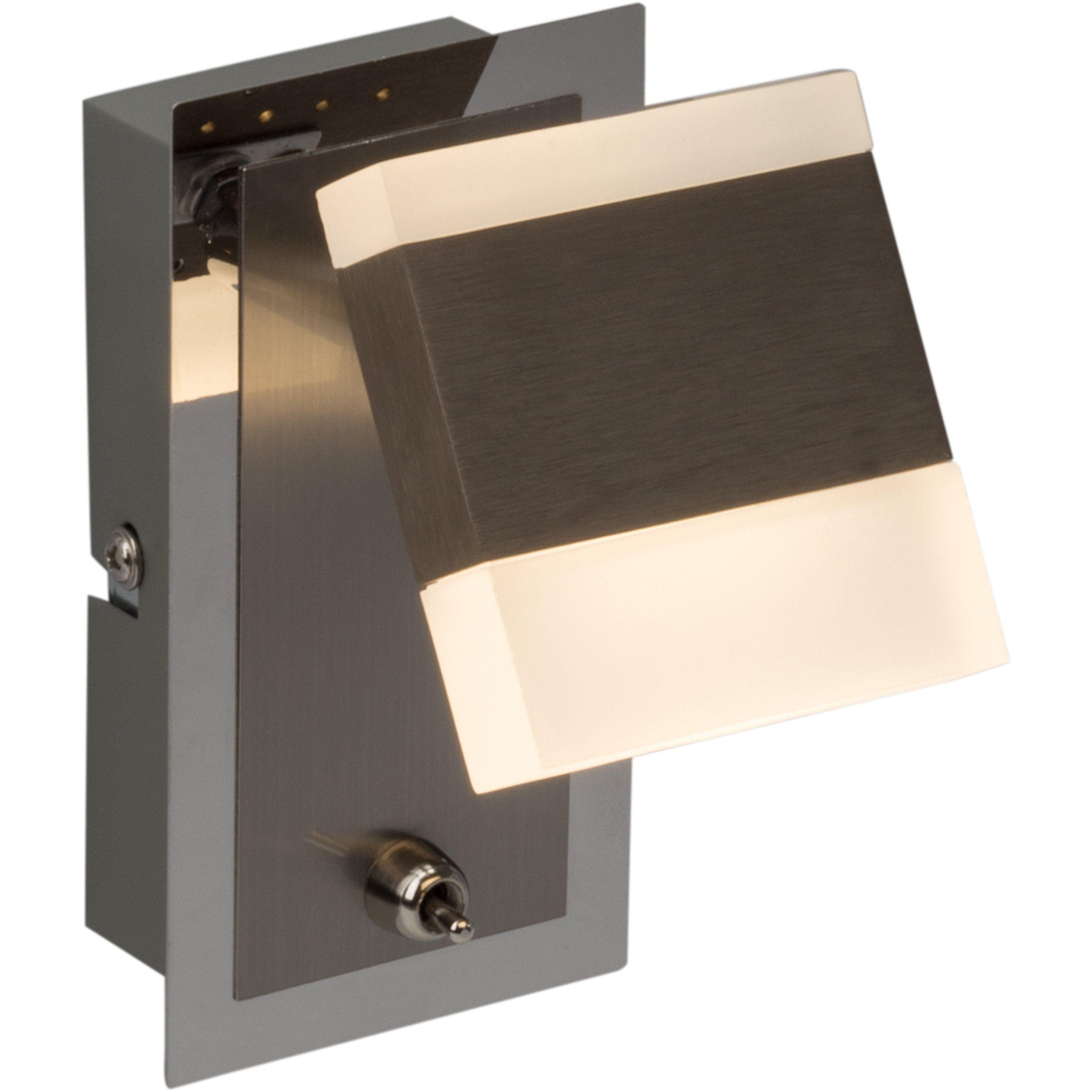 Brilliant Leuchten Target LED Wandspot nickel/chrom