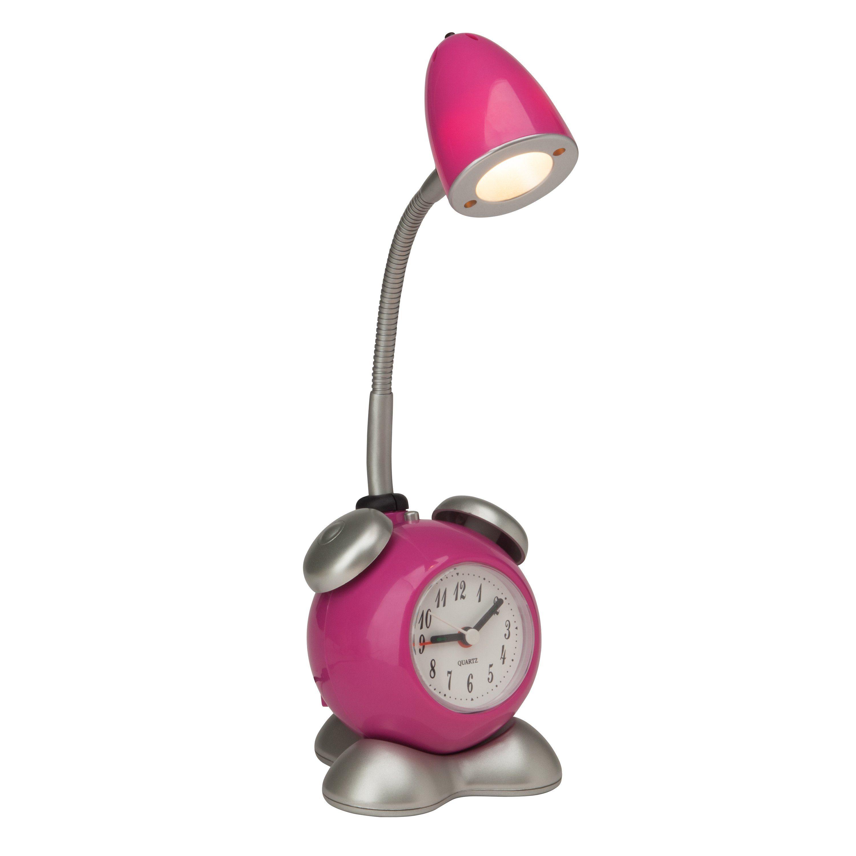 Brilliant Leuchten Pharrell LED Tischleuchte mit Wecker parma