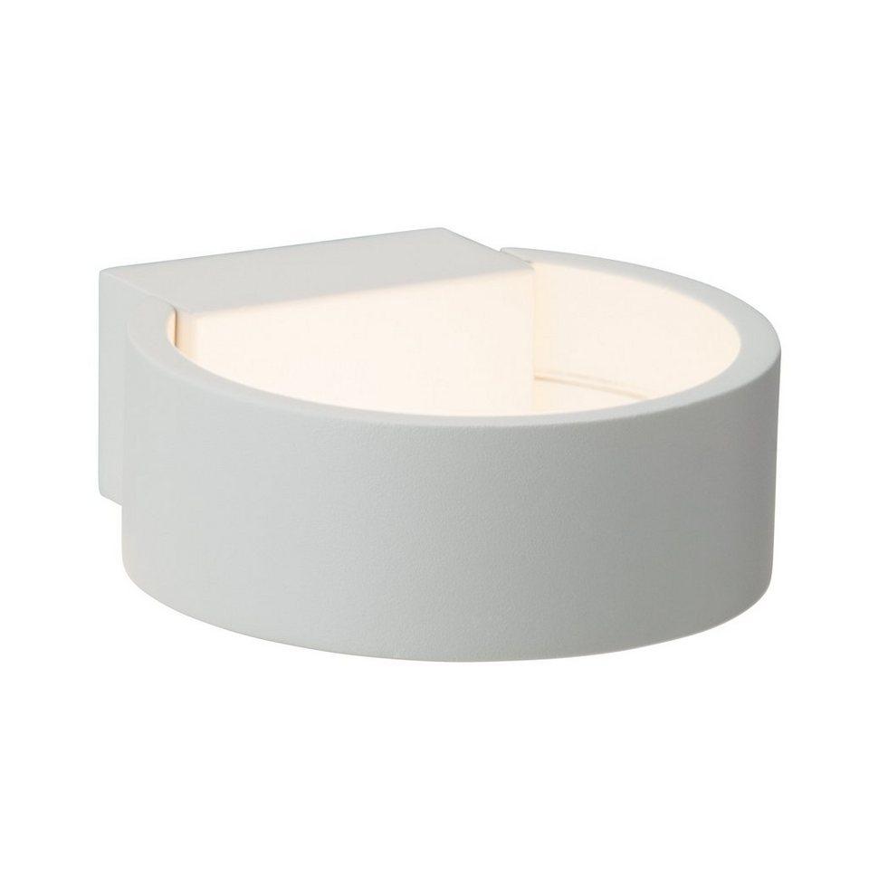 Brilliant Leuchten Free LED Wandleuchte, 1-flammig rund weiß in weiß
