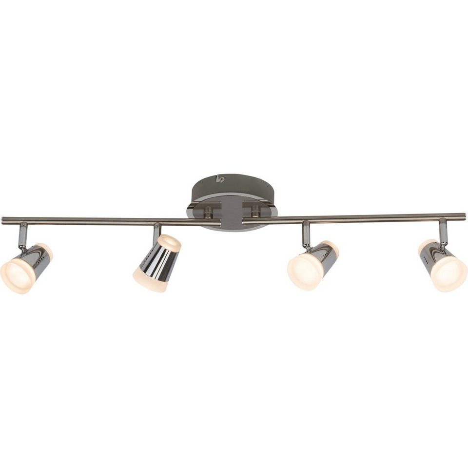Brilliant Leuchten Stairs LED Spotrohr, 4-flammig eisen/chrom in eisen/chrom