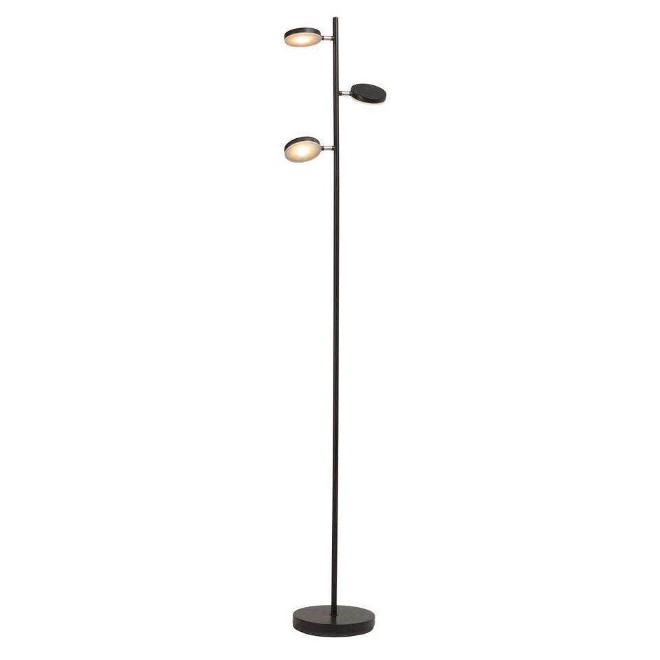 Brilliant Leuchten Chela LED Standleuchte, 3-flammig schwarz/kupfer in schwarz/kupfer