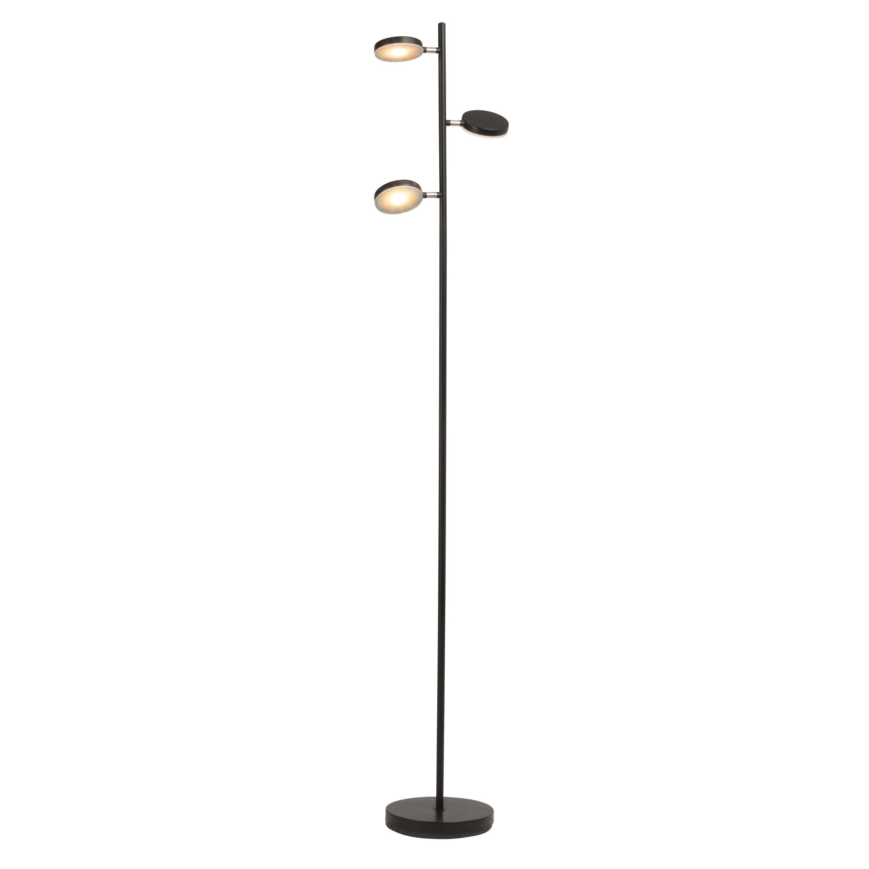 Brilliant Leuchten Chela LED Standleuchte, 3-flammig schwarz/kupfer