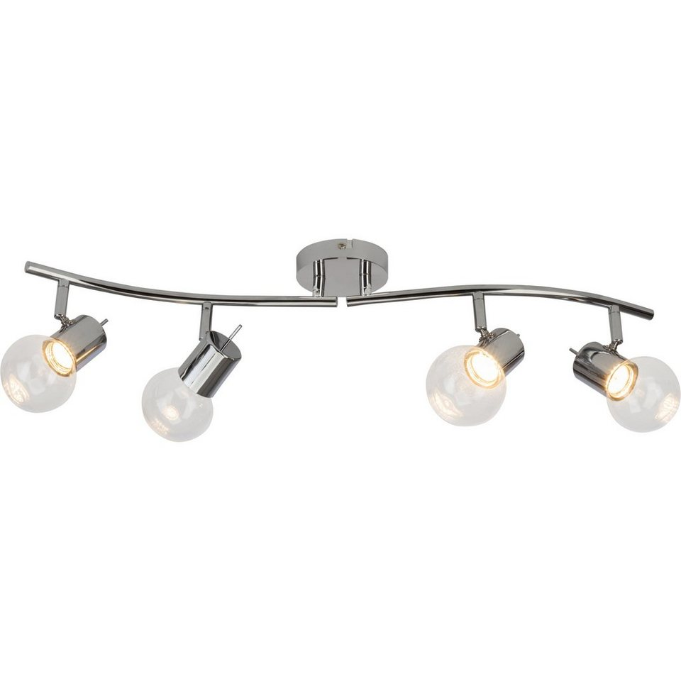 Brilliant Leuchten Celest LED Spotrohr, 4-flammig chrom/transparent in chrom/transparent