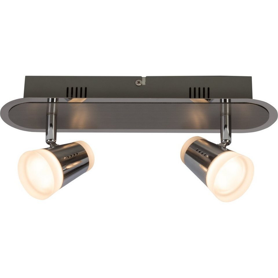 Brilliant Leuchten Stairs LED Spotbalken, 2-flammig eisen/chrom in eisen/chrom