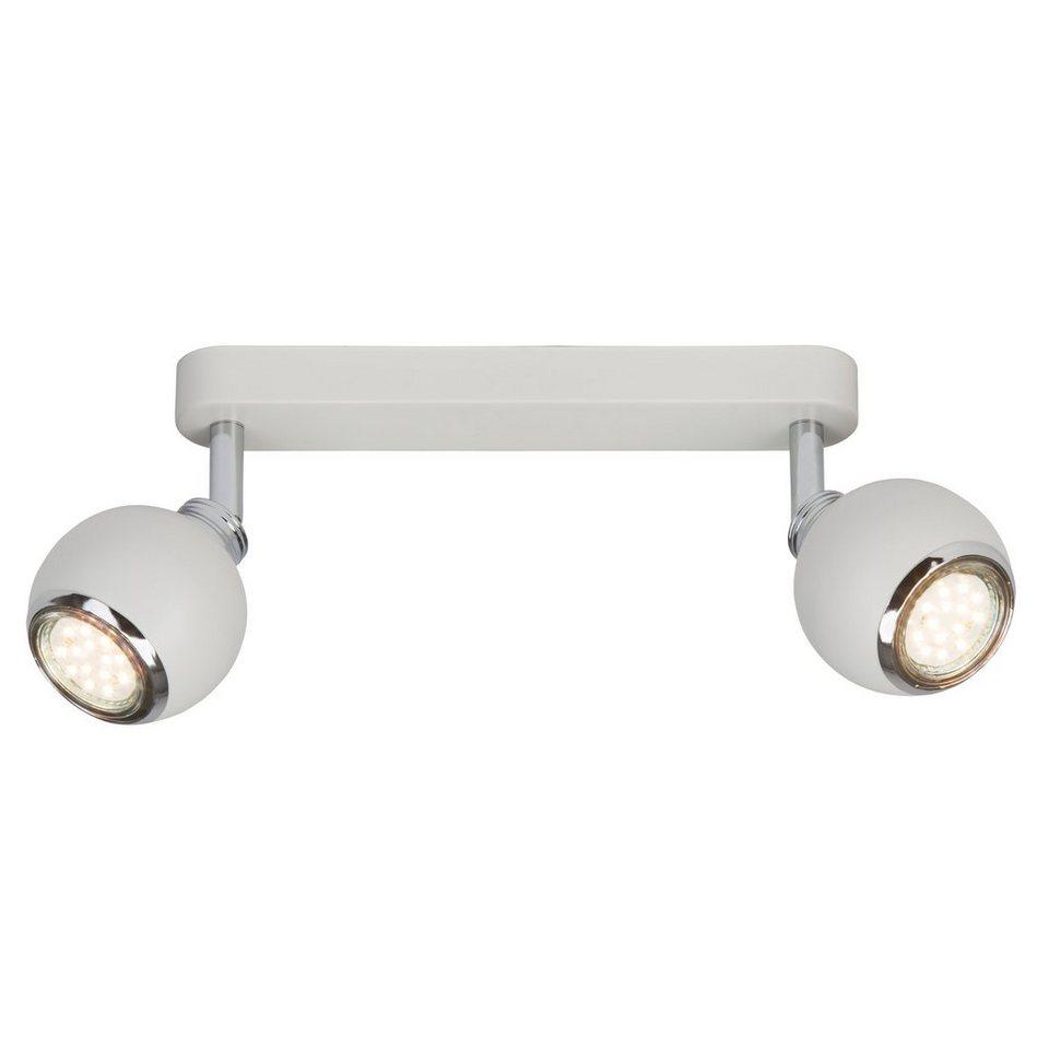 Brilliant Leuchten Ina LED Spotbalken, 2-flammig weiß/chrom in weiß/chrom