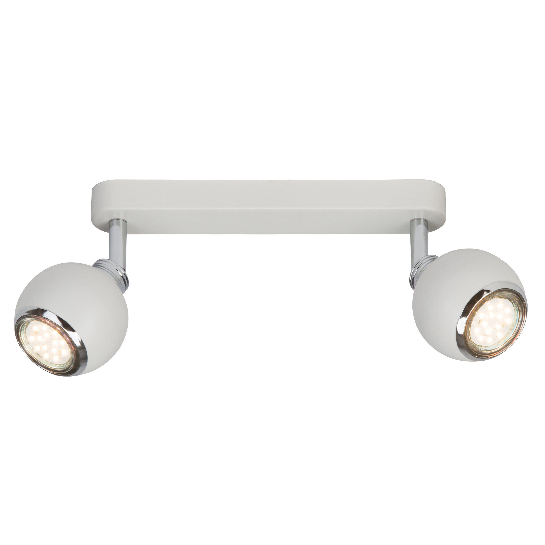 Brilliant Leuchten Ina LED Spotbalken, 2-flammig weiß/chrom