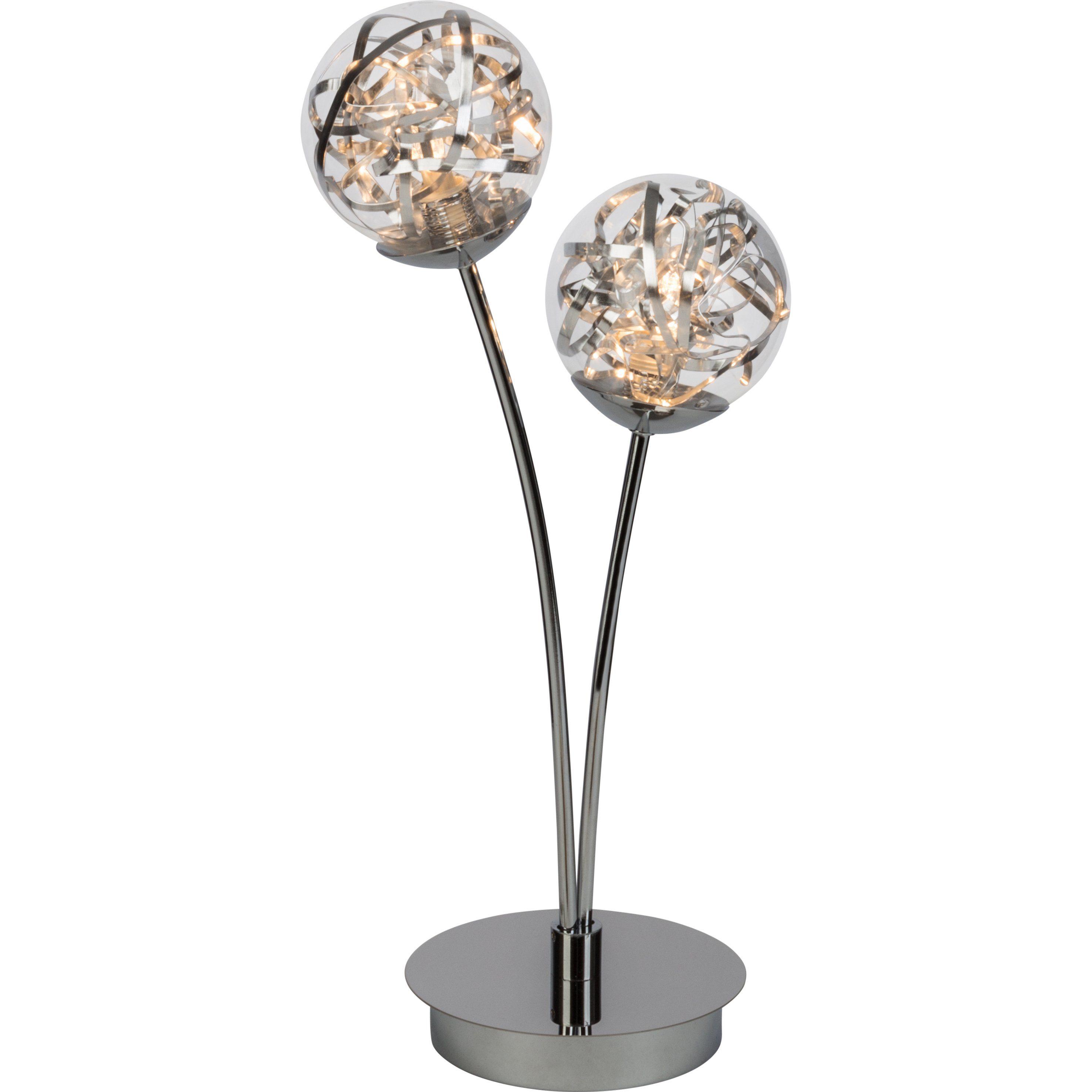 Brilliant Leuchten Cinta LED Tischleuchte, 2-flammig chrom