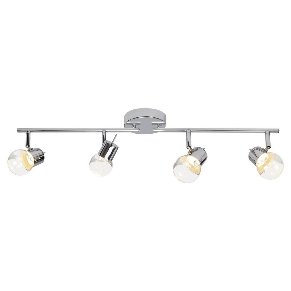 Brilliant Leuchten Lastra LED Spotrohr, 4-flammig chrom in chrom