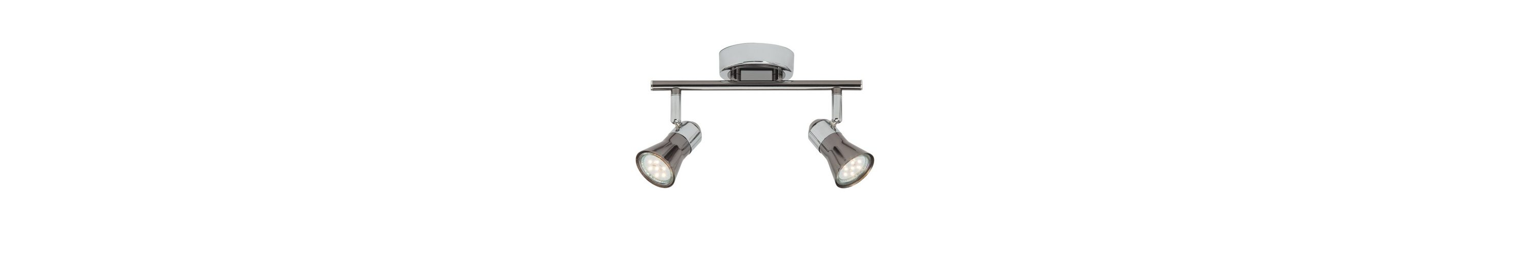 Brilliant Leuchten Jupp LED Spotrohr, 2-flammig chrom/schwarz