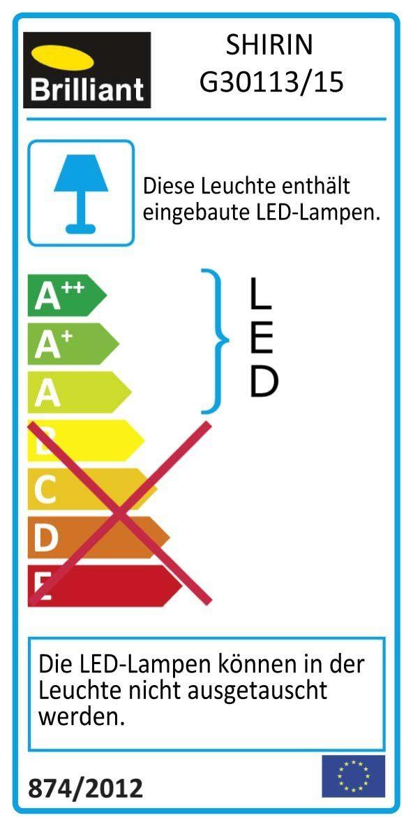 Brilliant Leuchten Shirin LED Spotrohr, 2-flammig chrom