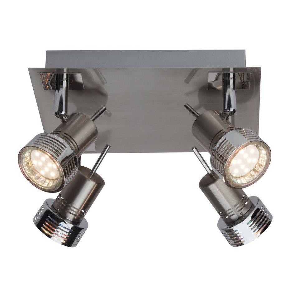 Brilliant Leuchten Kassandra LED Spotplatte, 4-flammig eisen/chrom in eisen/chrom