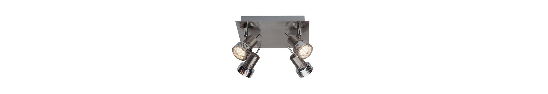 Brilliant Leuchten Kassandra LED Spotplatte, 4-flammig eisen/chrom