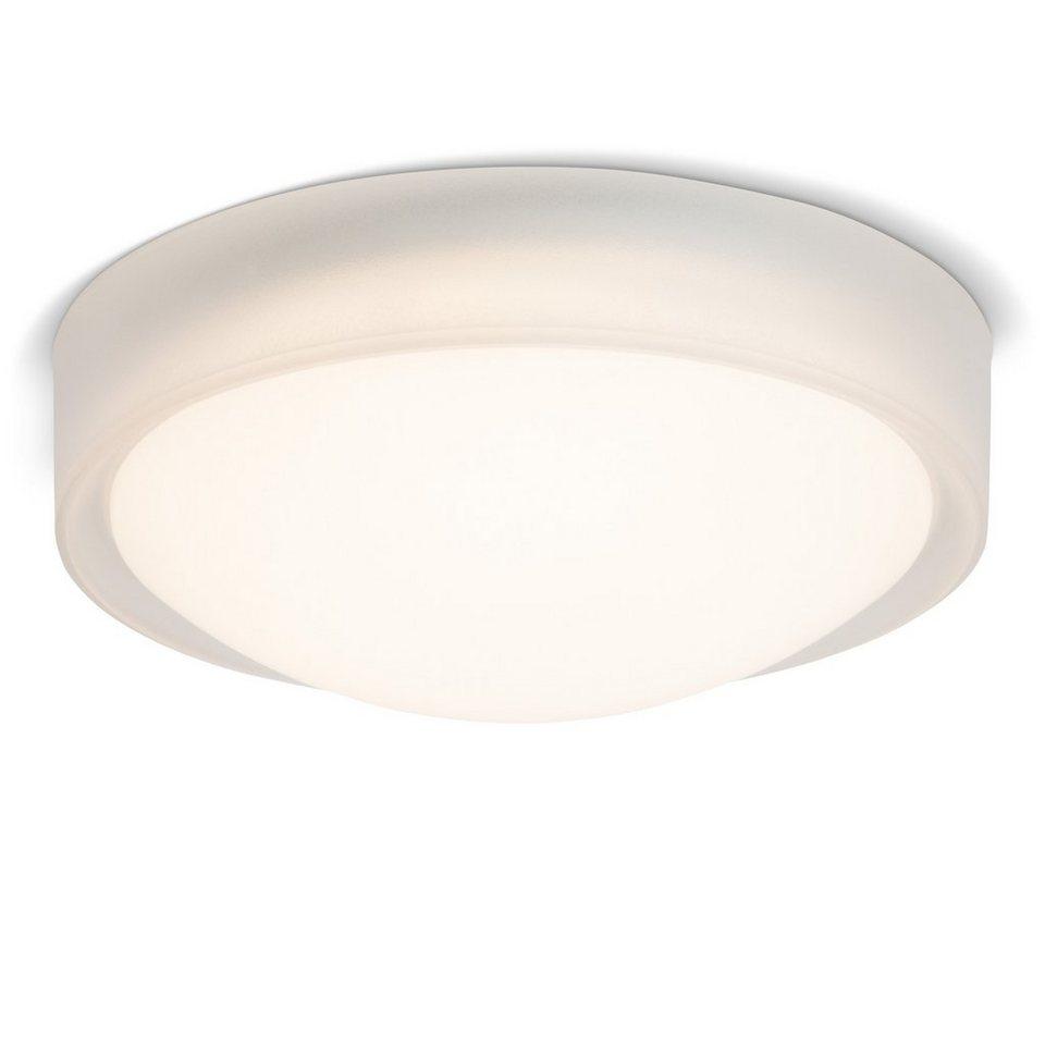 Brilliant Leuchten Tonia LED Wand- und Deckenleuchte transparent/weiß in transparent/weiß