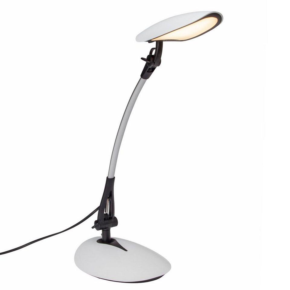 Brilliant Leuchten Sheldon LED Schreibtischleuchte schwarz/weiß in schwarz/weiß