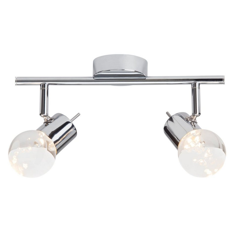 Brilliant Leuchten Lastra LED Spotrohr, 2-flammig chrom in chrom