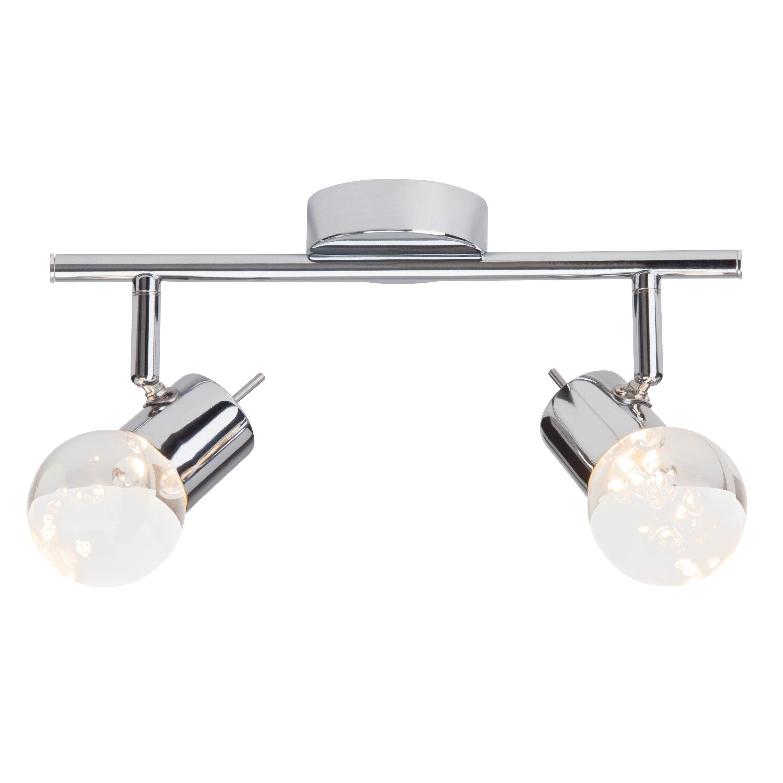Brilliant Leuchten Lastra LED Spotrohr, 2-flammig chrom