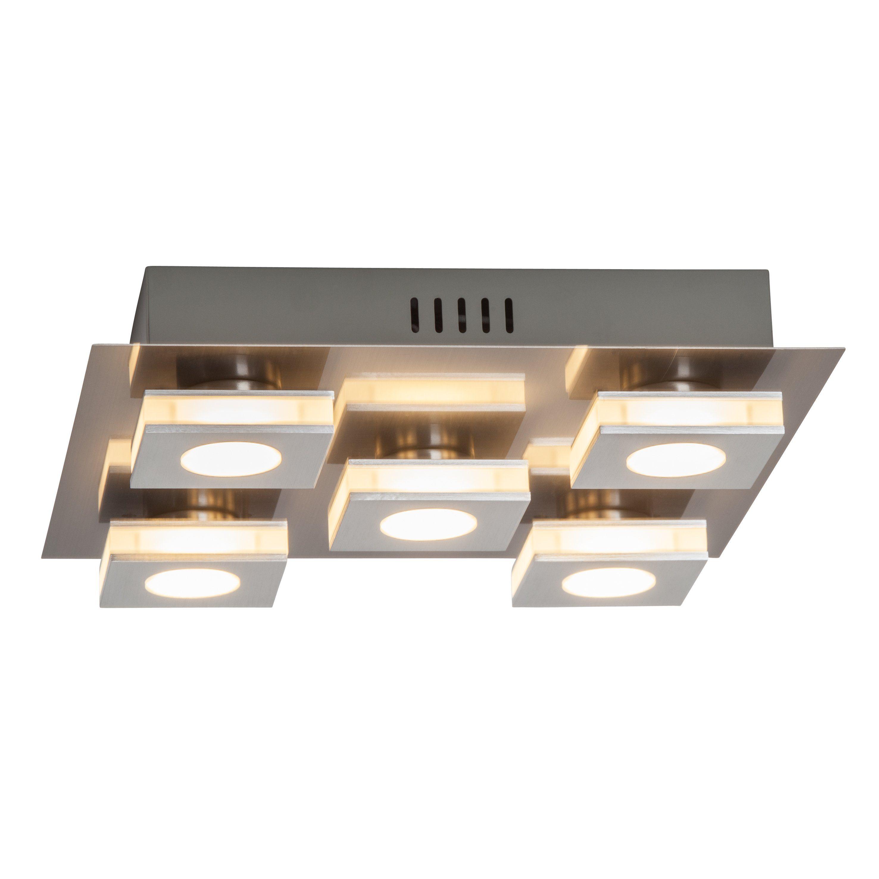 Brilliant Leuchten Transit LED Wand- und Deckenleuchte, 5-flammig nickel/alu