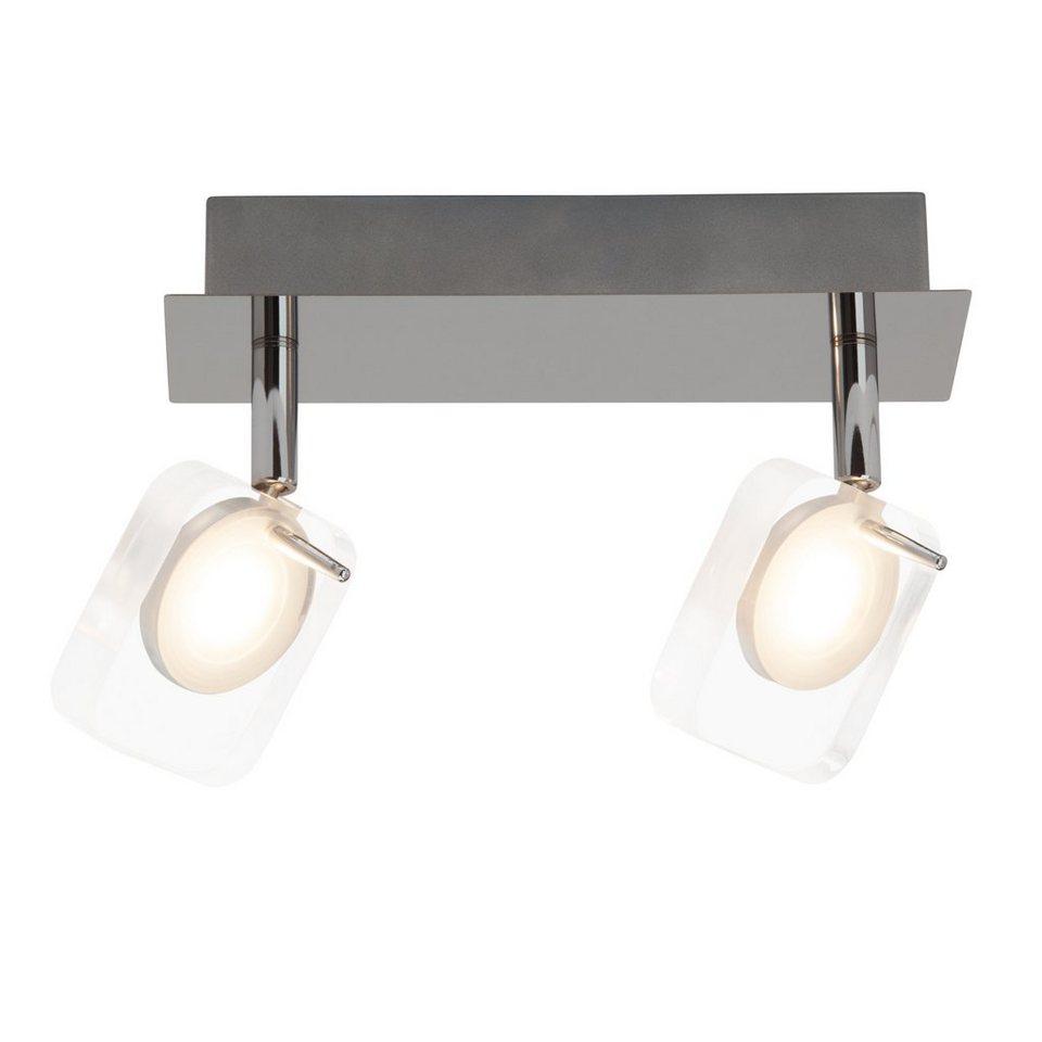 Brilliant Leuchten Narcissa LED Spotbalken, 2-flammig chrom/transparent in chrom/transparent