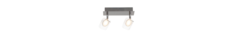 Brilliant Leuchten Narcissa LED Spotbalken, 2-flammig chrom/transparent