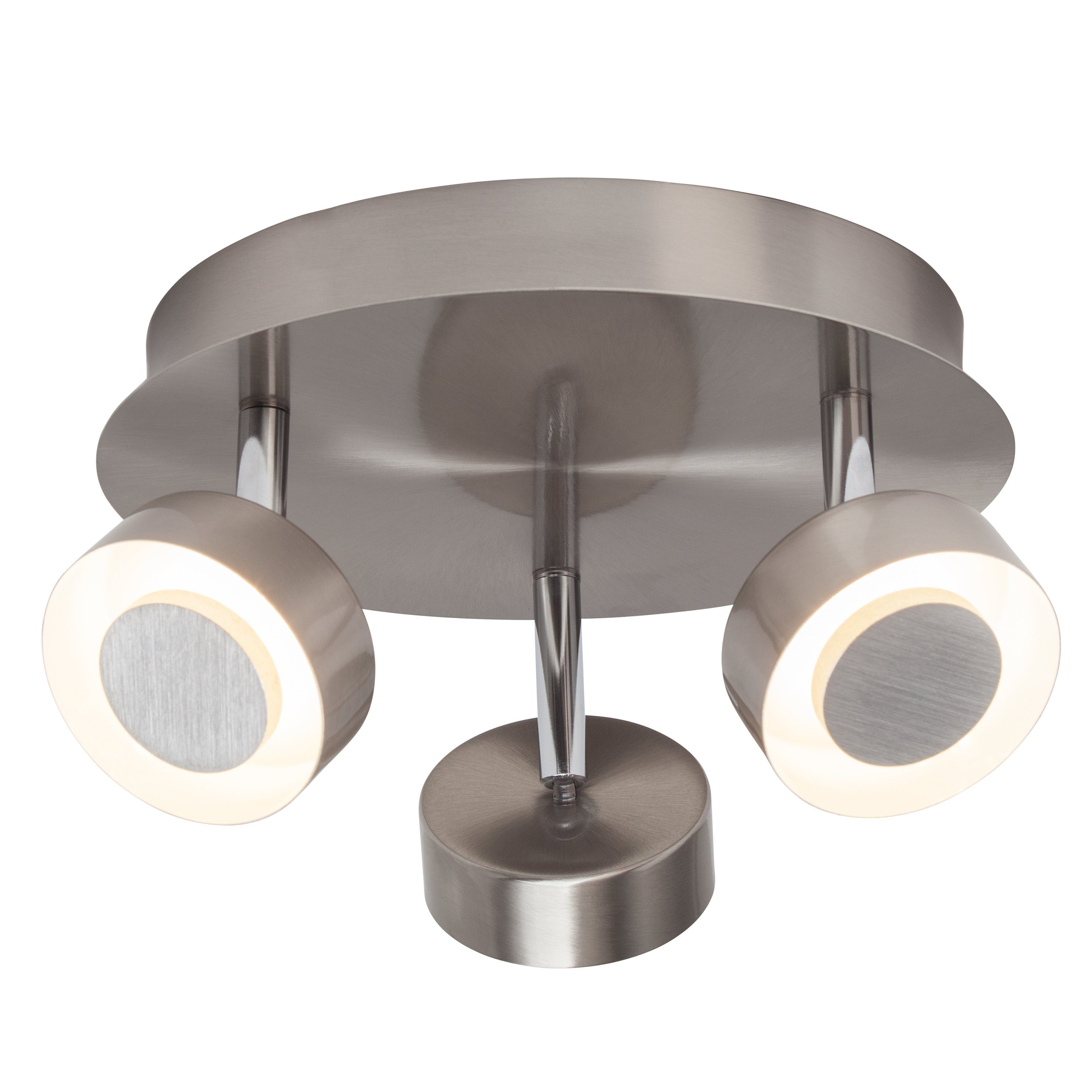 Brilliant Leuchten Orban LED Spotrondell, 3-flammig eisen