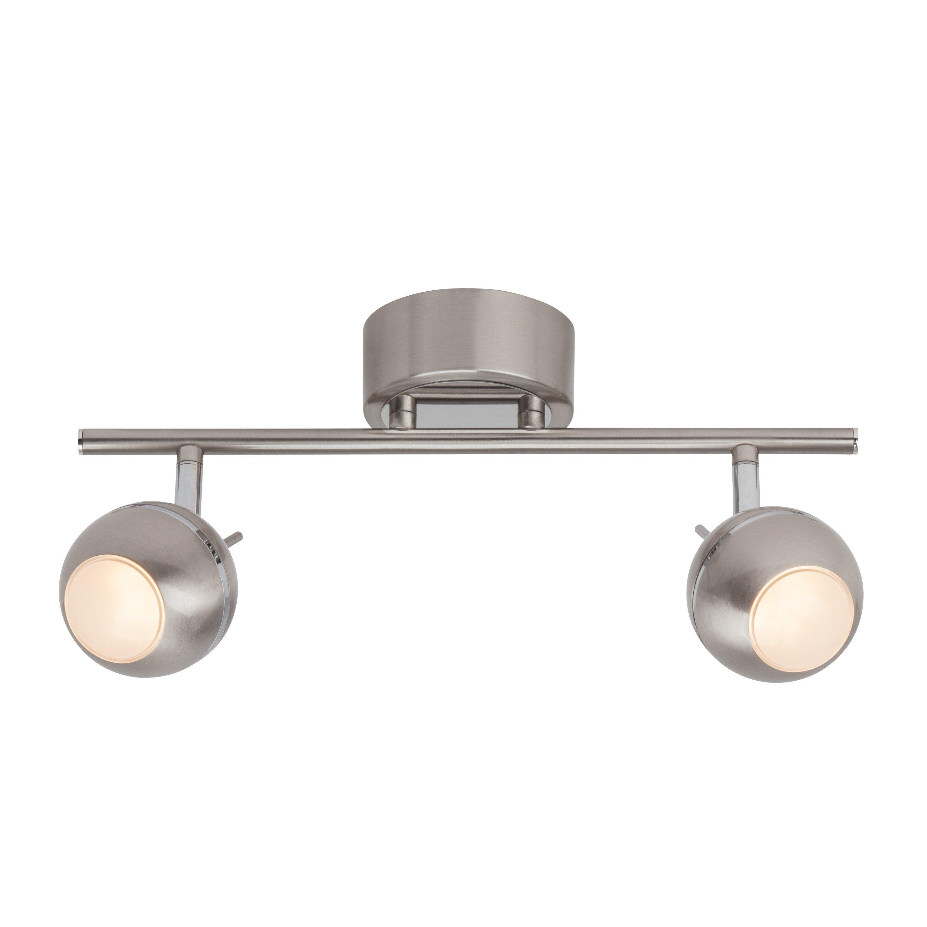 Brilliant Leuchten Comb LED Spotrohr, 2-flammig eisen/chrom