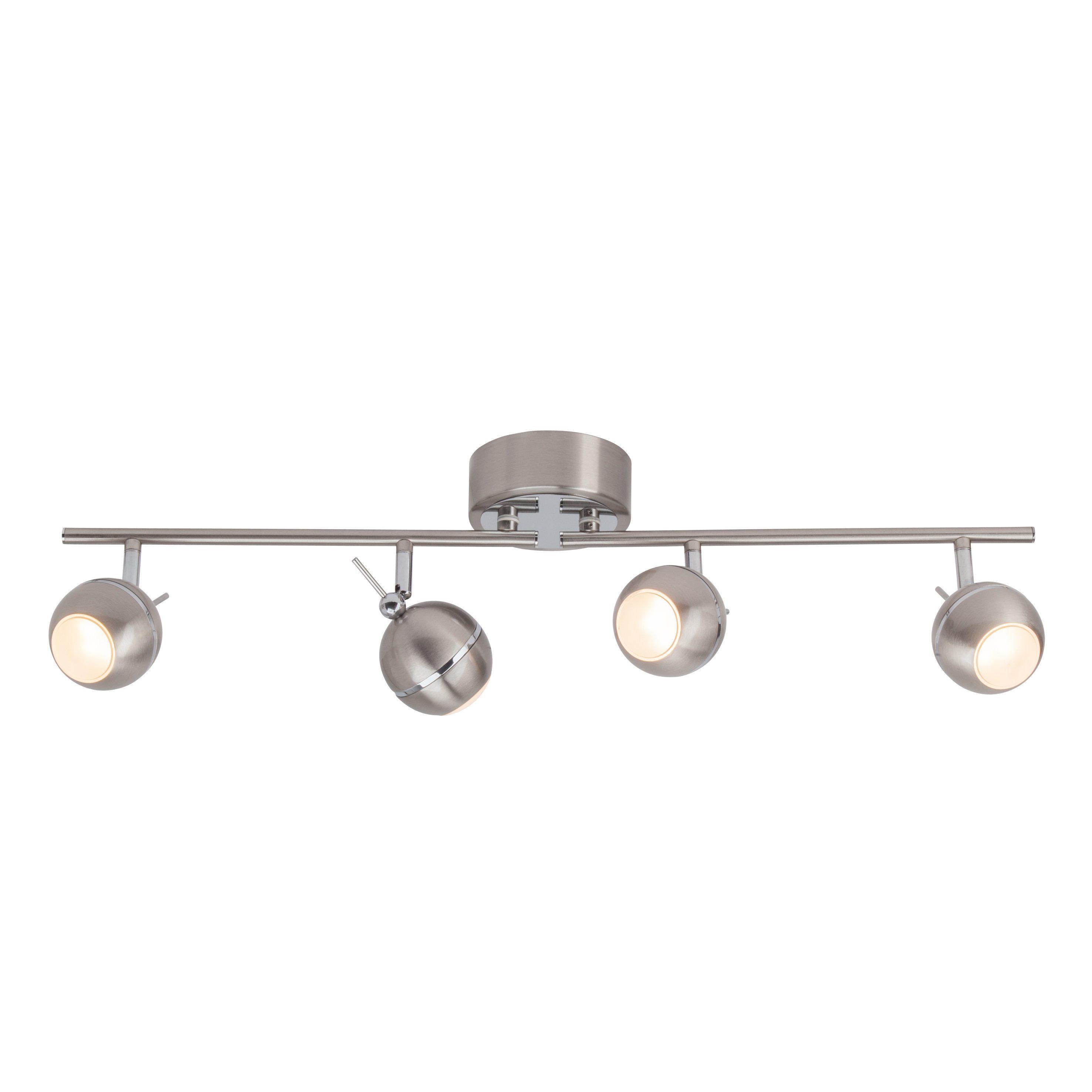 Brilliant Leuchten Comb LED Spotrohr, 4-flammig eisen/chrom