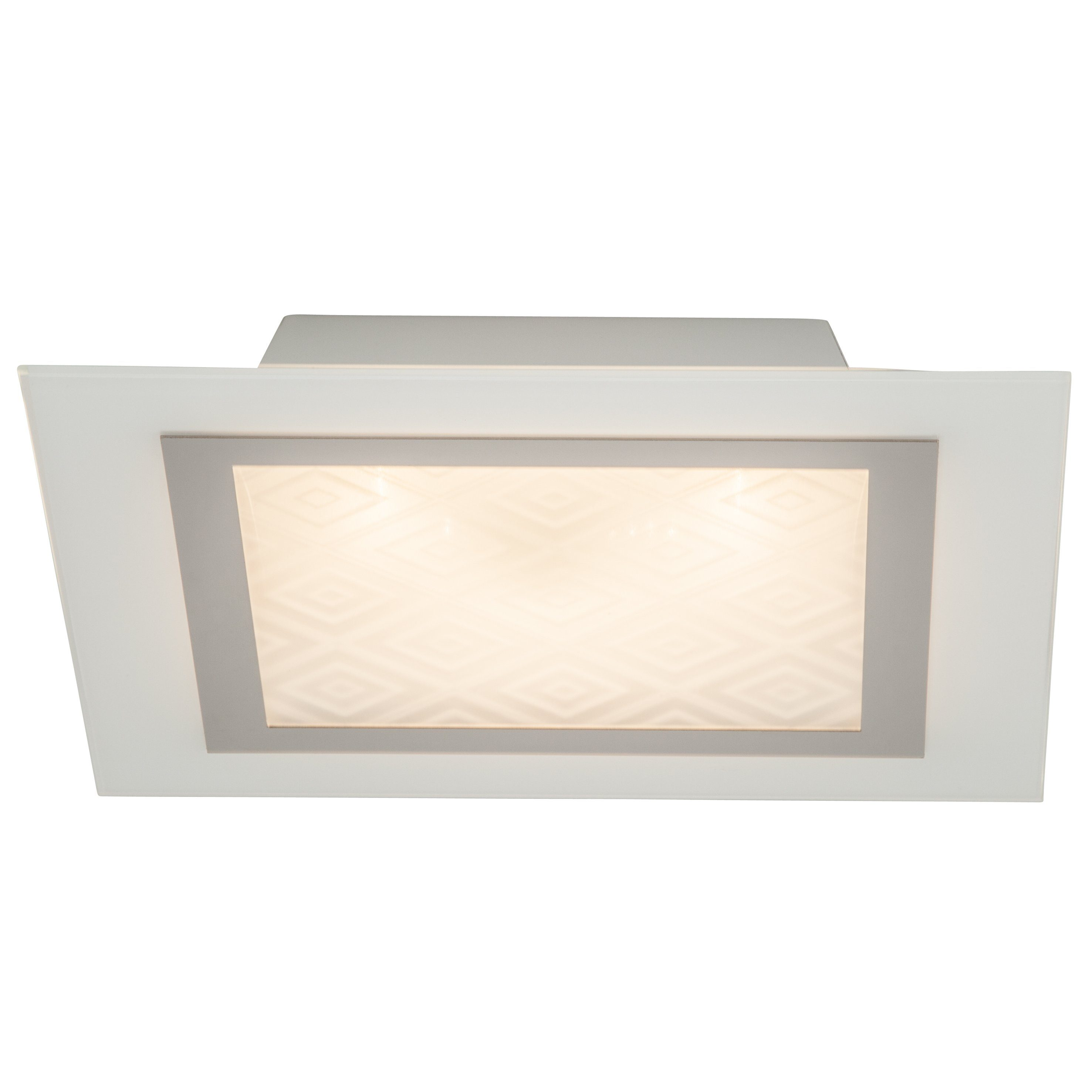 Brilliant Leuchten Rolanda LED Wand- und Deckenleuchte chrom/weiß