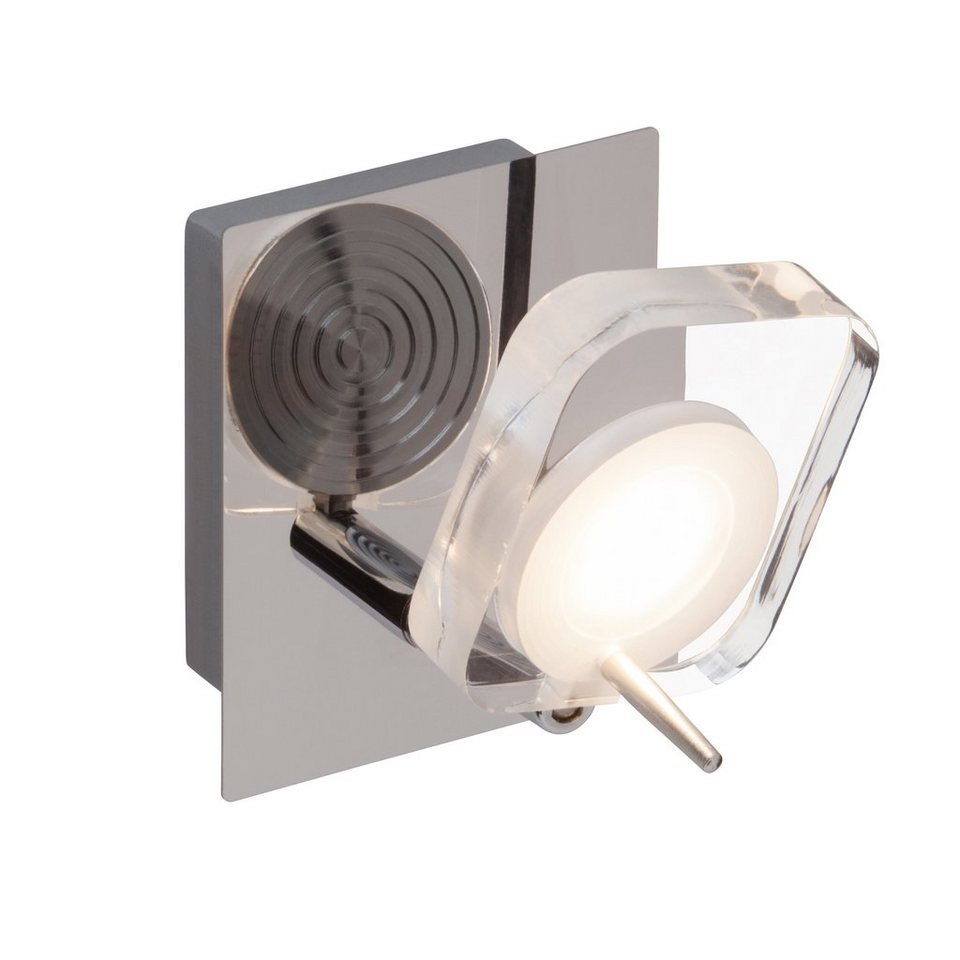 Brilliant Leuchten Narcissa LED Wandspot chrom/transparent in chrom/transparent