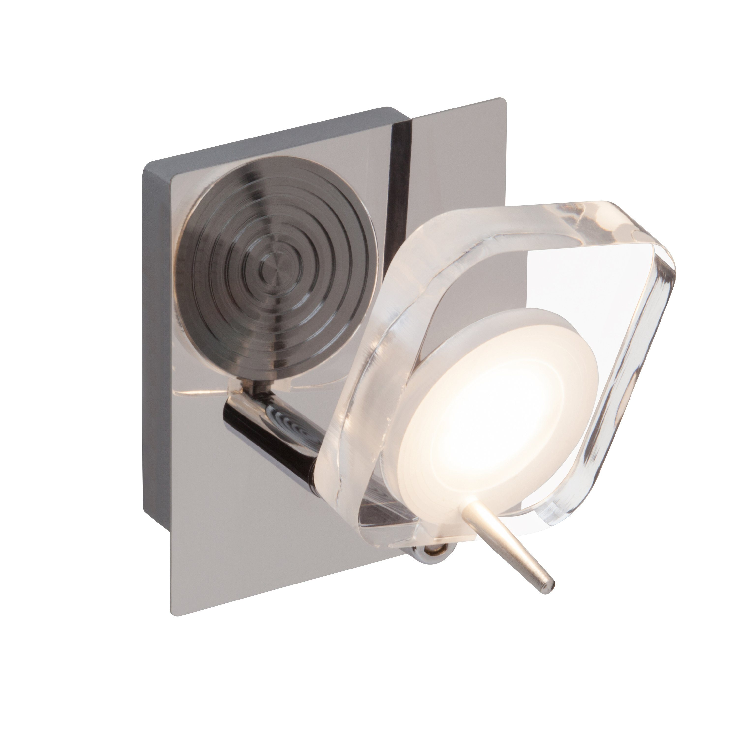 Brilliant Leuchten Narcissa LED Wandspot chrom/transparent