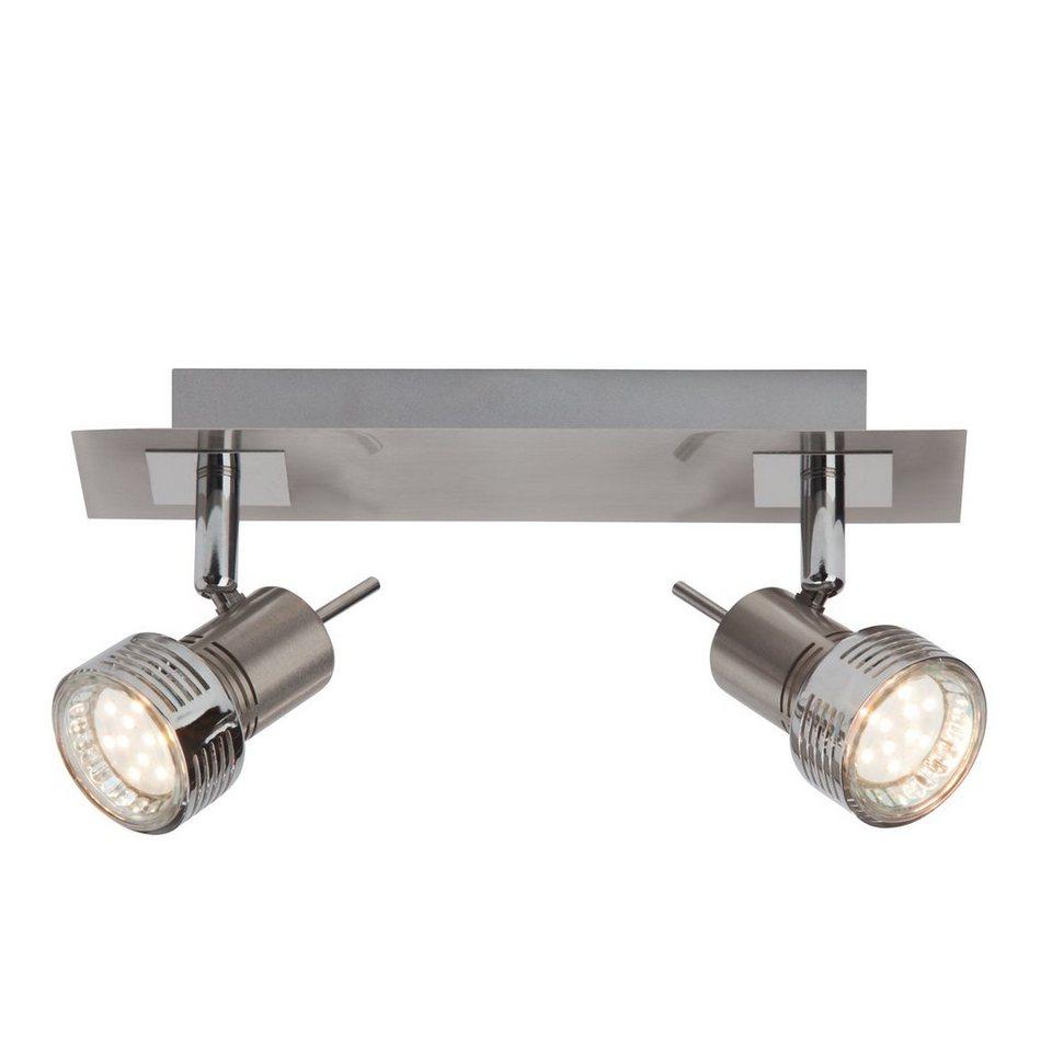 Brilliant Leuchten Kassandra LED Spotbalken, 2-flammig eisen/chrom in eisen/chrom