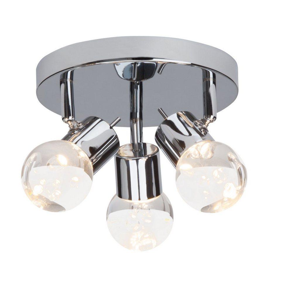 Brilliant Leuchten Lastra LED Spotrondell, 3-flammig chrom in chrom