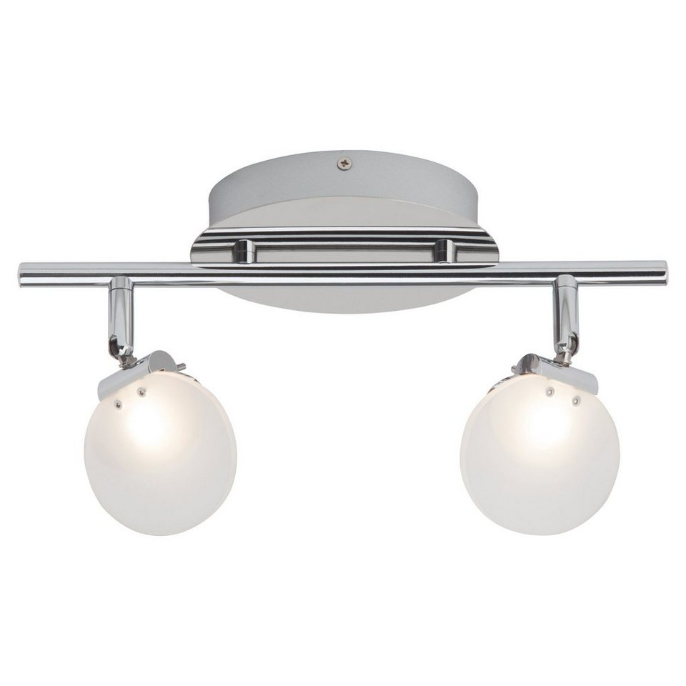 Brilliant Leuchten Shirin LED Spotrohr, 2-flammig chrom in chrom