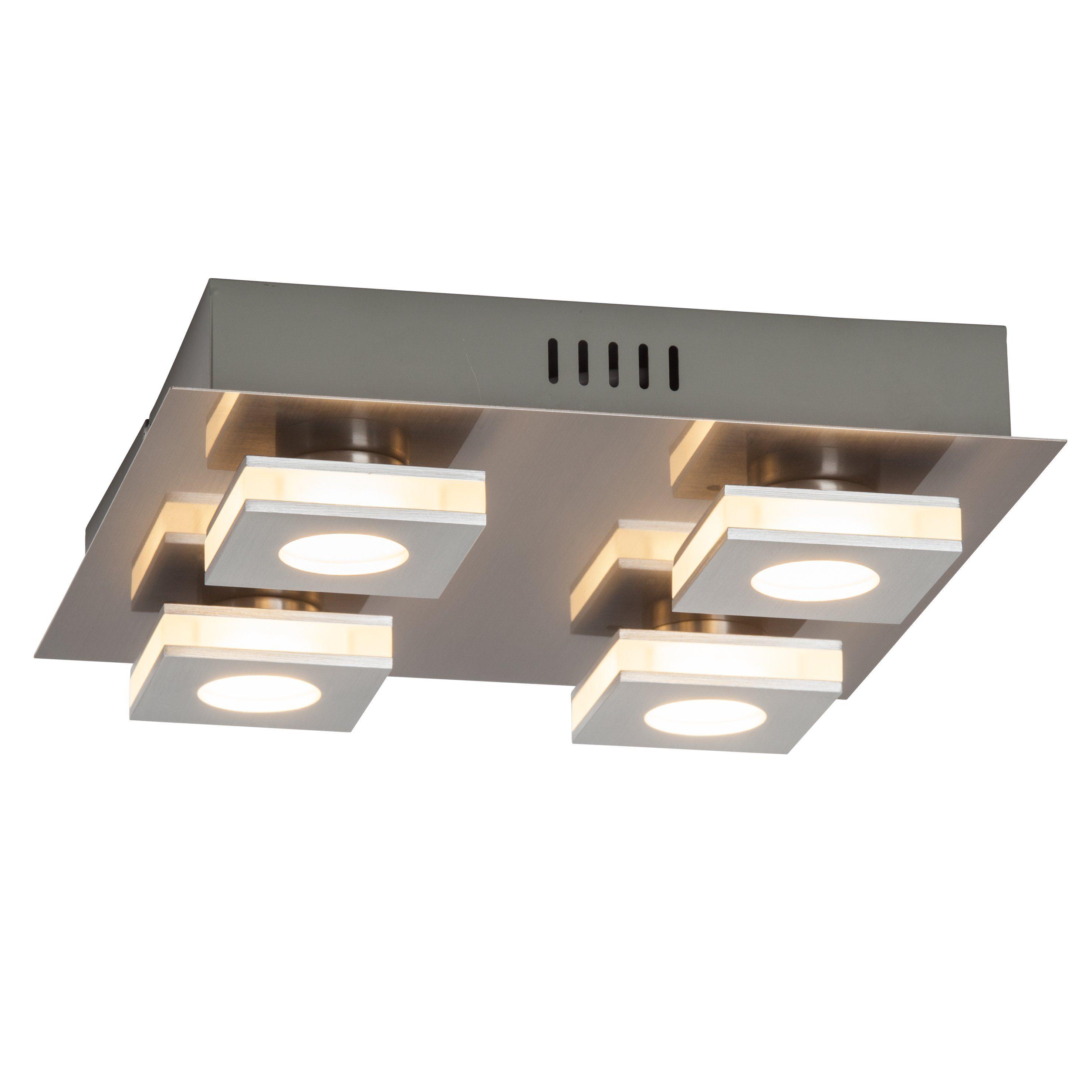 Brilliant Leuchten Transit LED Wand- und Deckenleuchte, 4-flammig nickel/alu