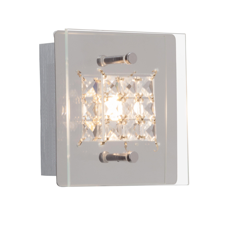 Brilliant Leuchten Martino LED Wand- und Deckenleuchte, 1-flammig chrom/transparent