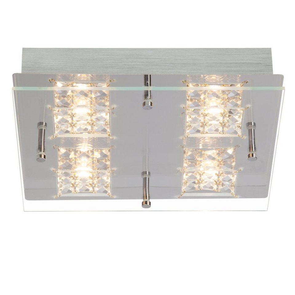 Brilliant Leuchten Martino LED Wand- und Deckenleuchte, 4-flammig chrom/transparent in chrom/transparent