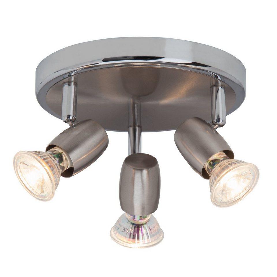 Brilliant Leuchten Wesley LED Spotrondell, 3-flammig eisen/chrom in eisen/chrom