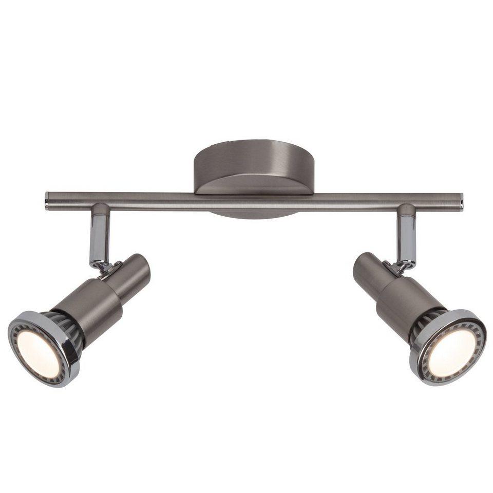 Brilliant Leuchten Ryan LED Spotrohr, 2-flammig eisen/chrom/weiß in eisen/chrom/weiß