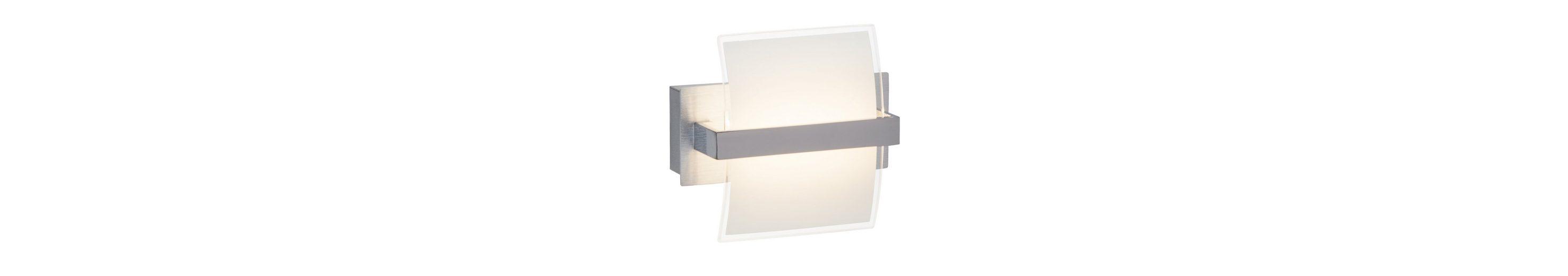 Brilliant Leuchten Trust LED Wandleuchte mit Schalter chrom