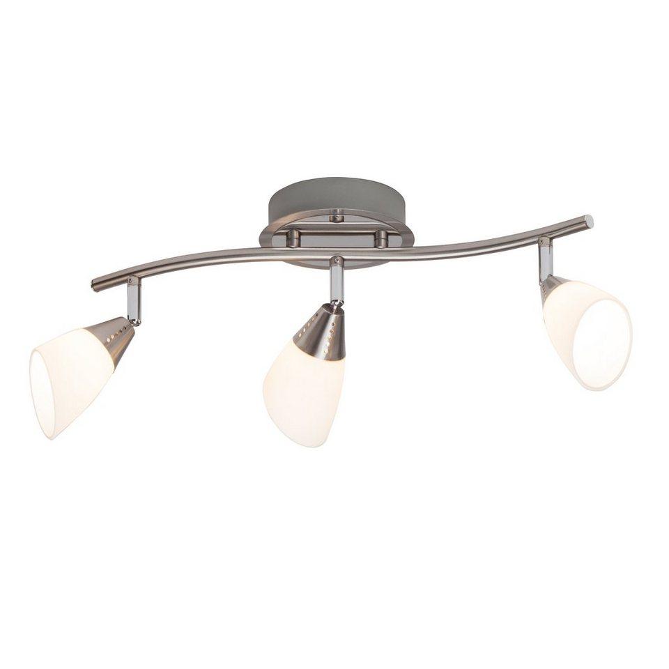 Brilliant Leuchten Opalina LED Spotrohr, 3-flammig eisen chrom/weiß in eisen chrom/weiß