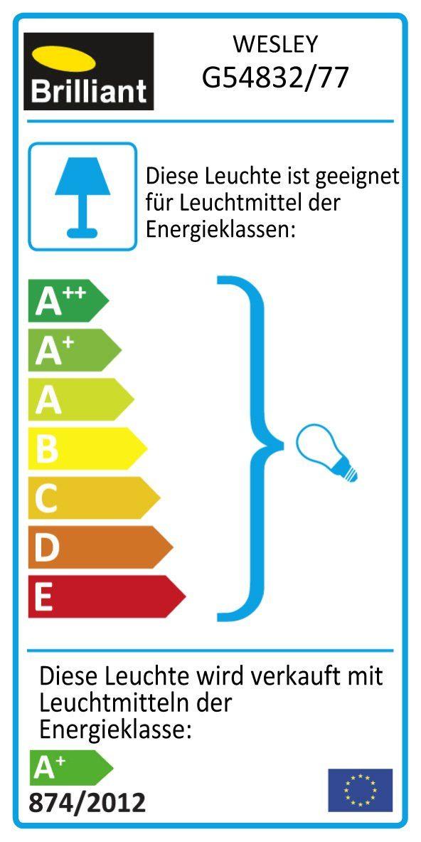 Brilliant Leuchten Wesley LED Spotrohr, 4-flammig eisen/chrom