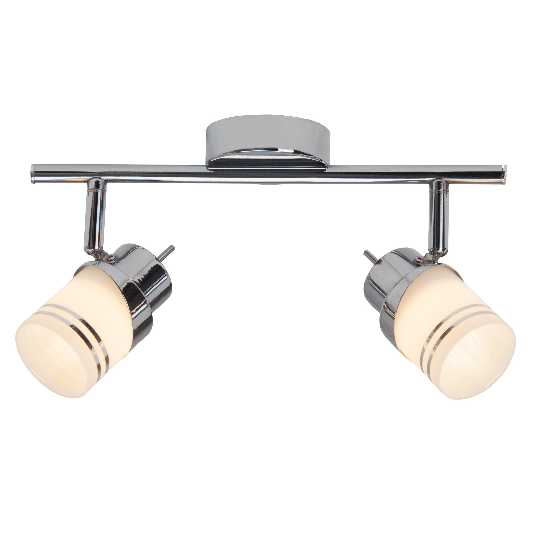 Brilliant Leuchten Heda LED Spotrohr, 2-flammig eisen/chrom
