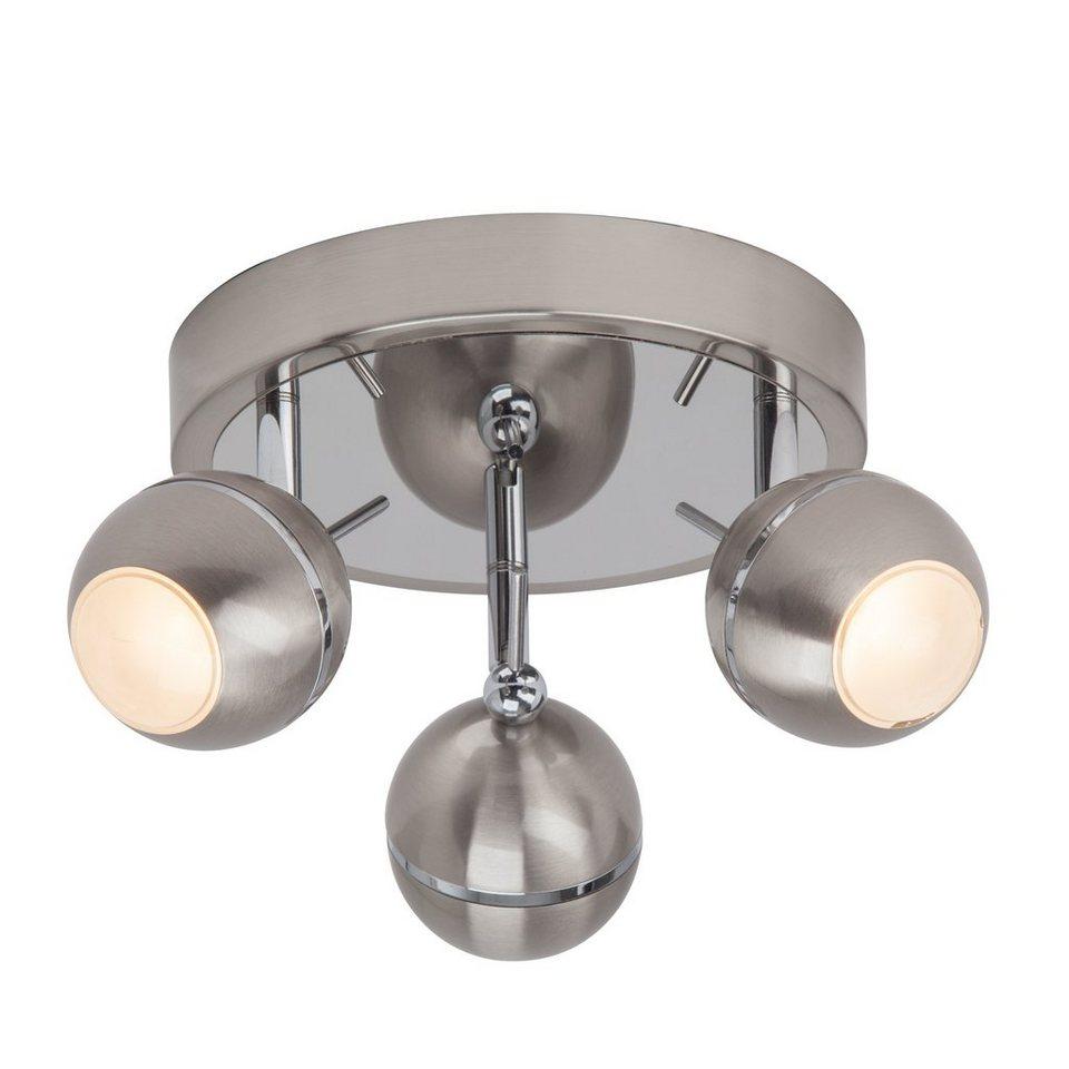 Brilliant Leuchten Comb LED Spotrondell, 3-flammig eisen/chrom in eisen/chrom