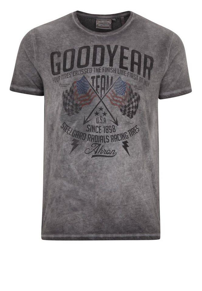Goodyear T-Shirt »FERNALD« in Vintage Grey