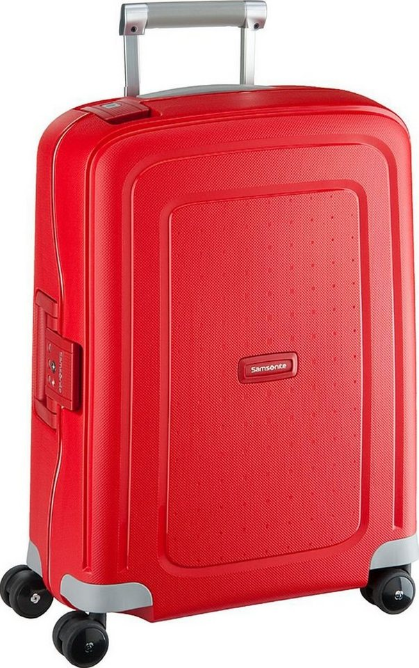 Samsonite S'Cure Spinner Cabin Trolley in Crimson Red