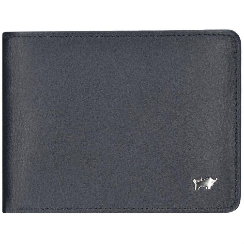 Braun Büffel Geldbörse Leder 12,5 cm in schwarz